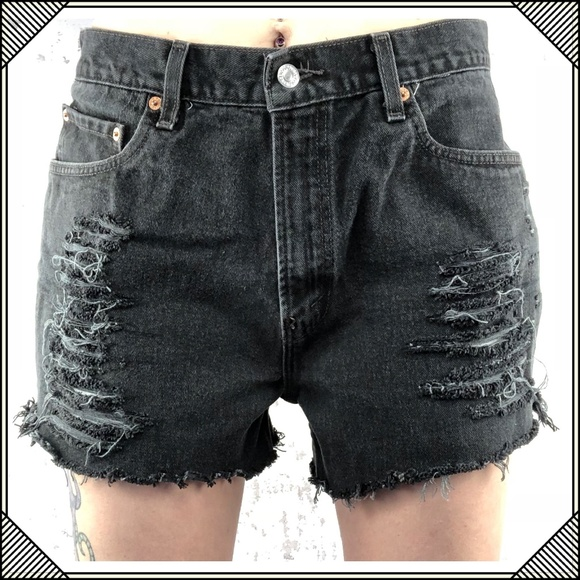 cut off denim shorts diy